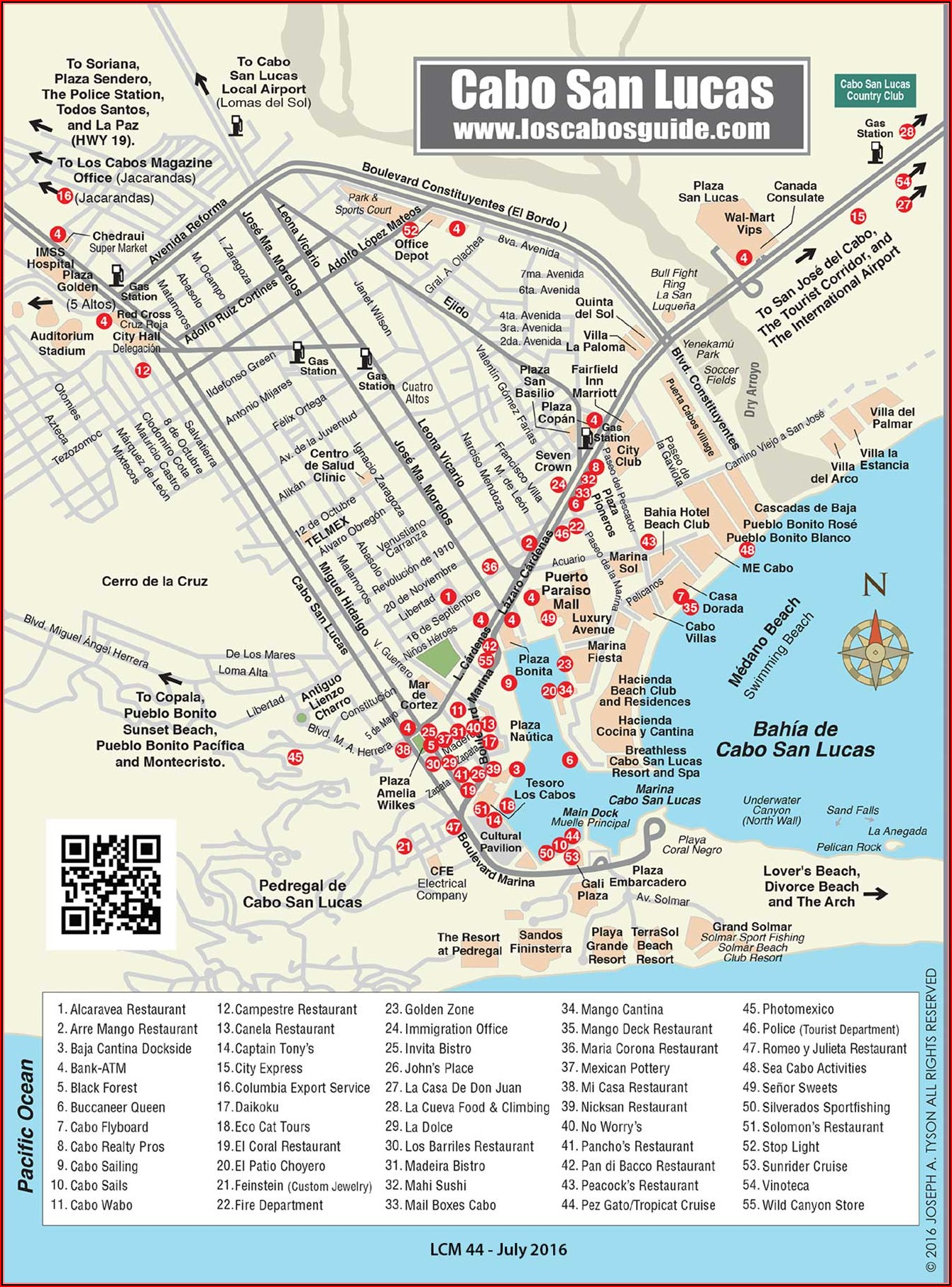 Map Of El Medano Beach Hotels