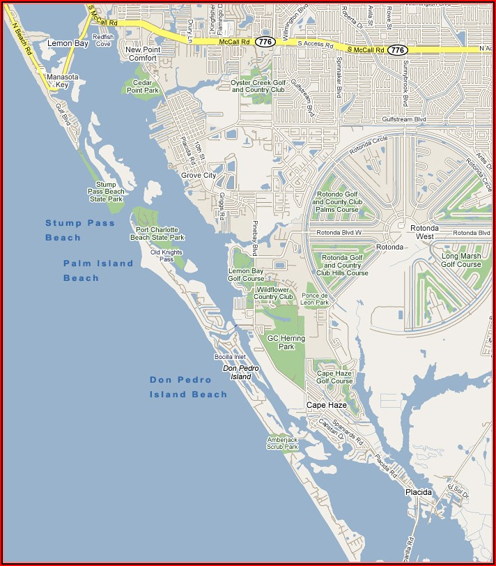Map Of Florida Gulf Coast Islands