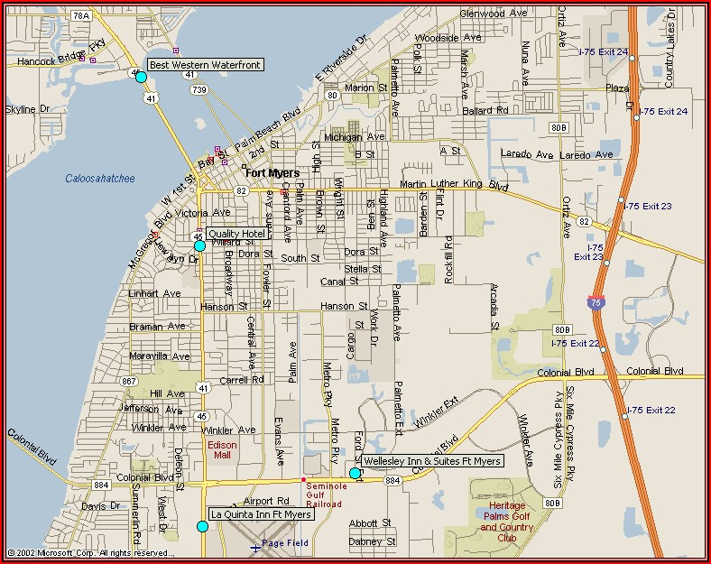 Map Of Fort Myers Fl Area