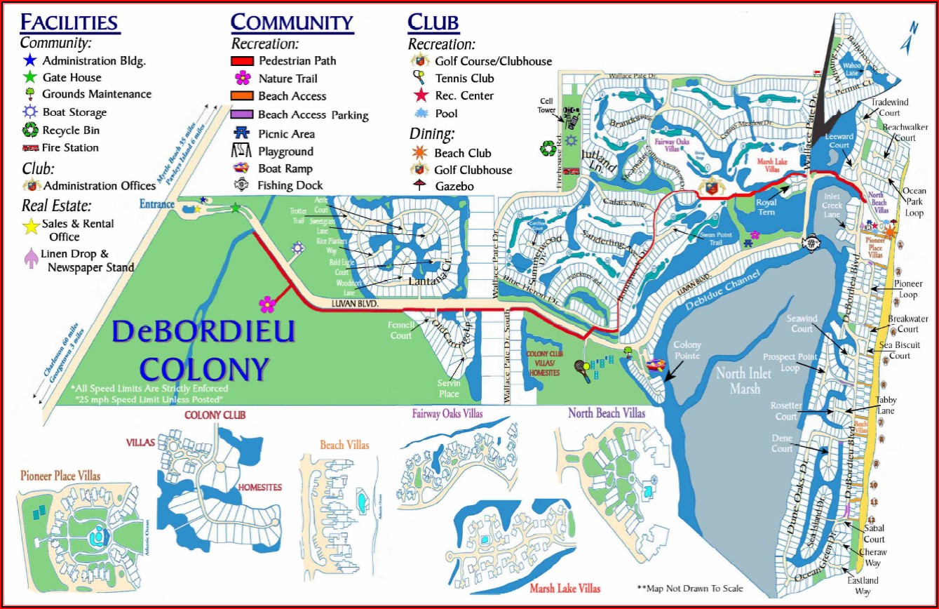 Map Of Golf Courses In North Myrtle Beach