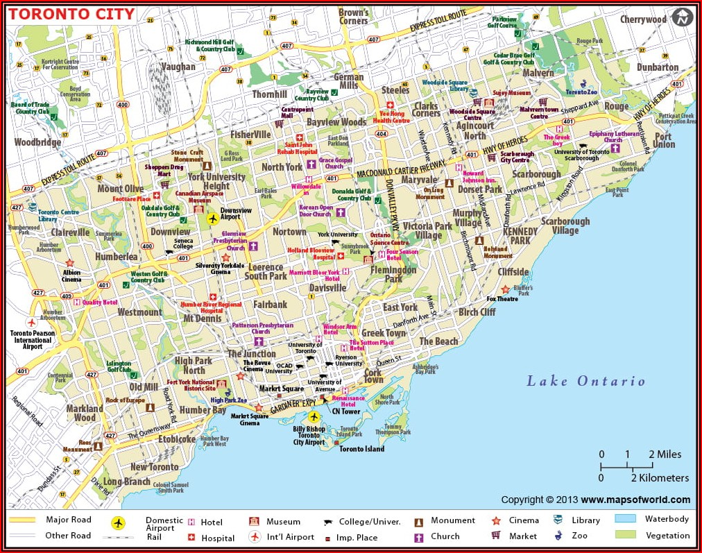 Map Of Hotels Downtown Toronto