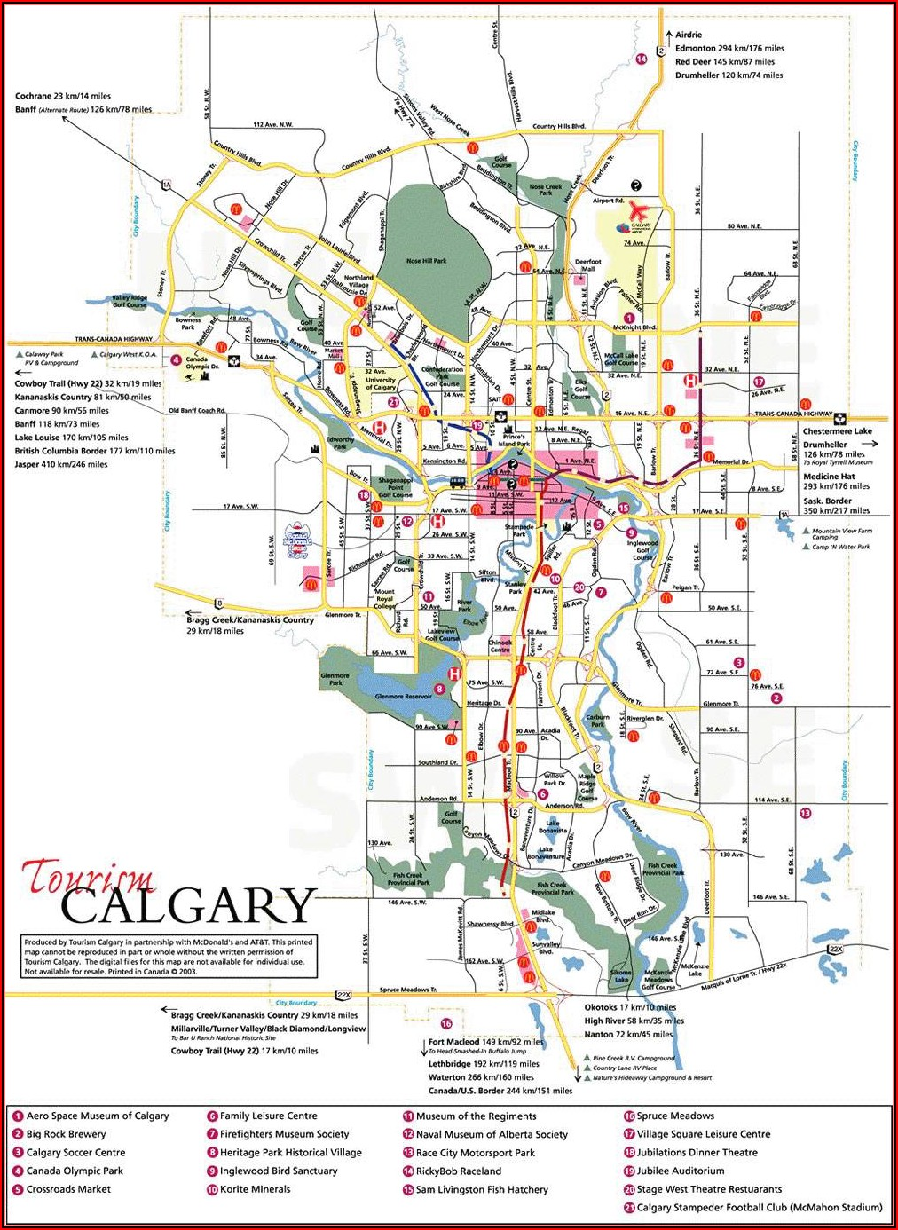 Map Of Hotels In Calgary Alberta