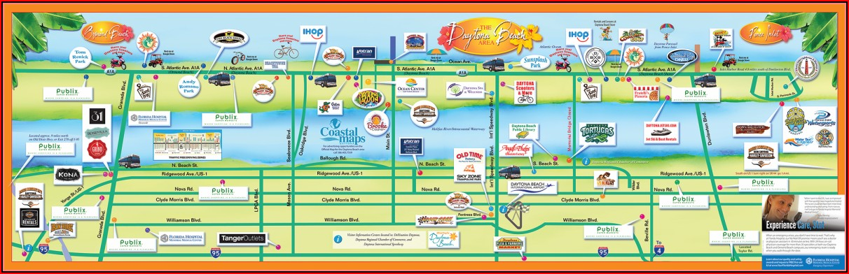 Map Of Hotels In Daytona Beach Fl