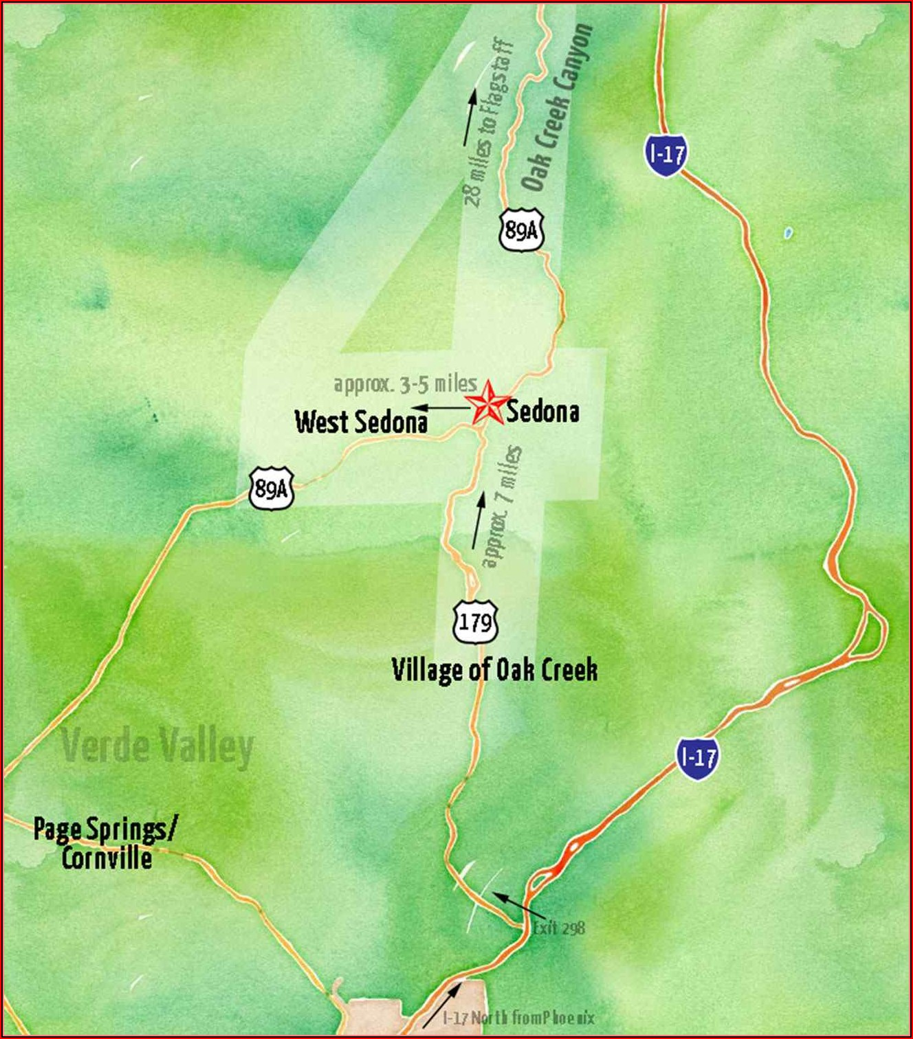 Map Of Hotels In Downtown Sedona