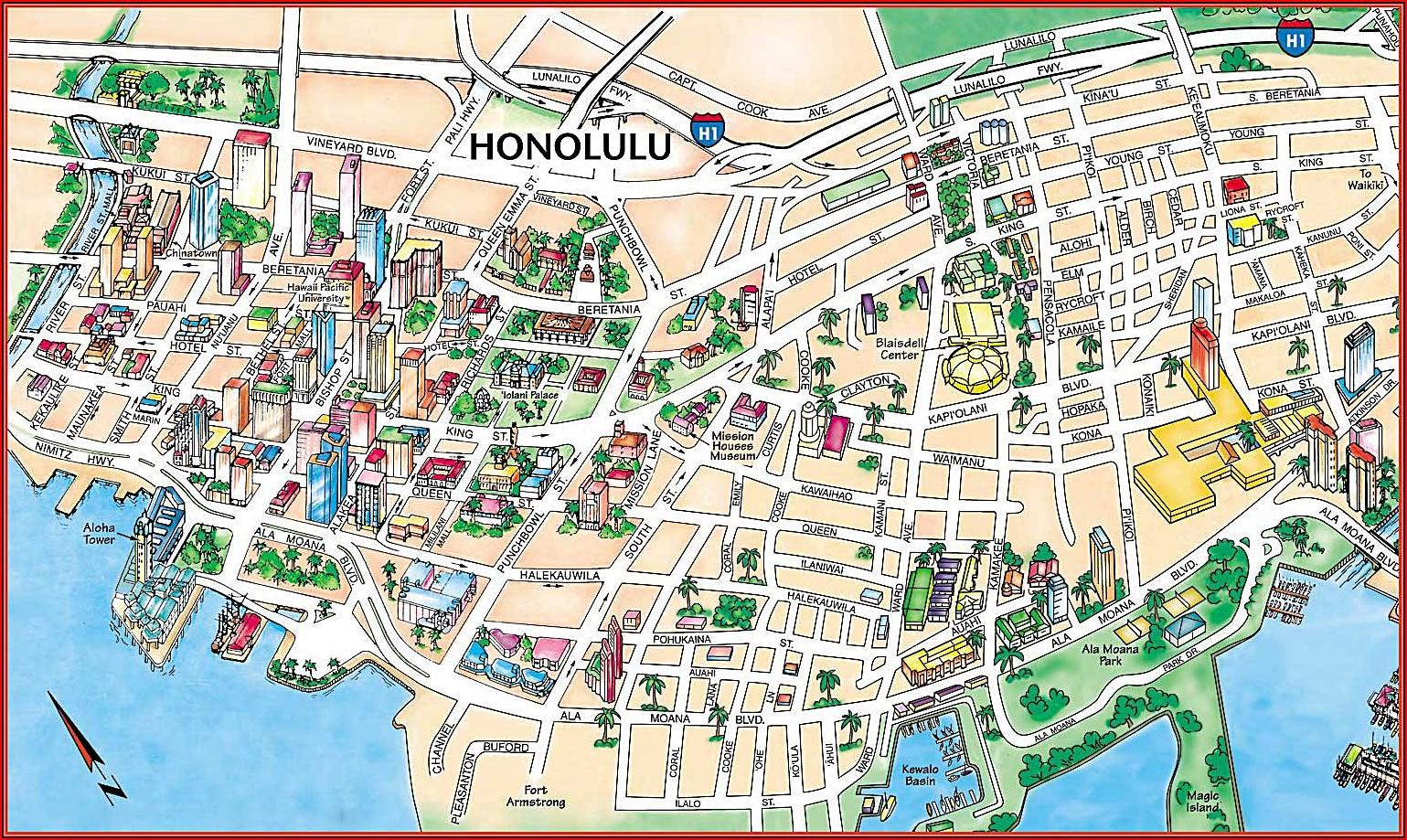 Map Of Hotels In Oahu Island