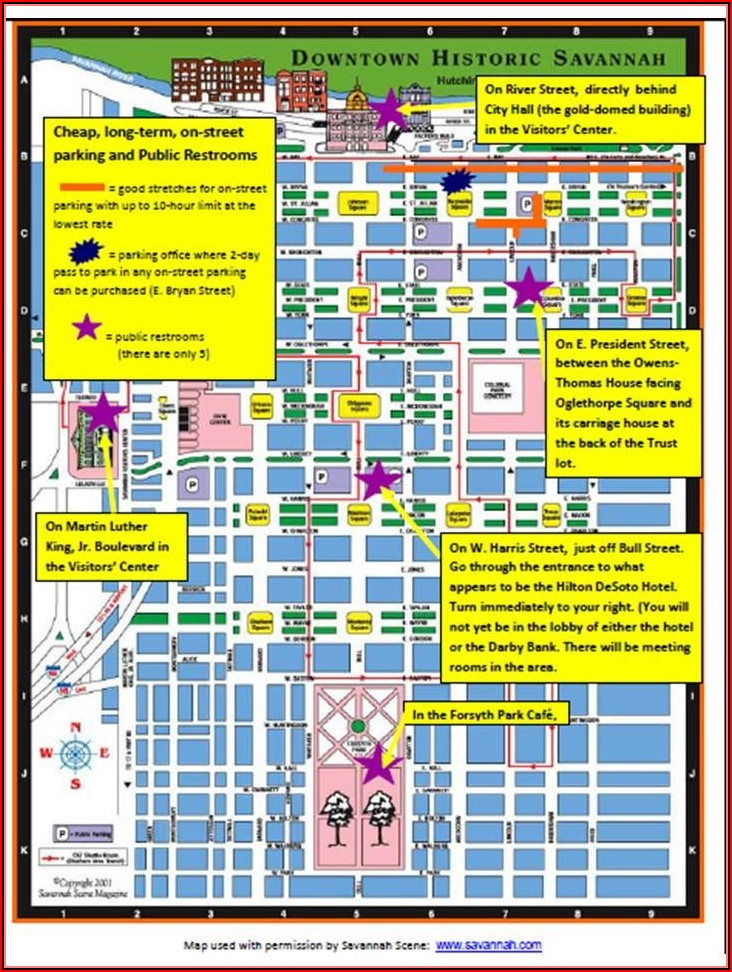 Map Of Hotels In Savannah Ga