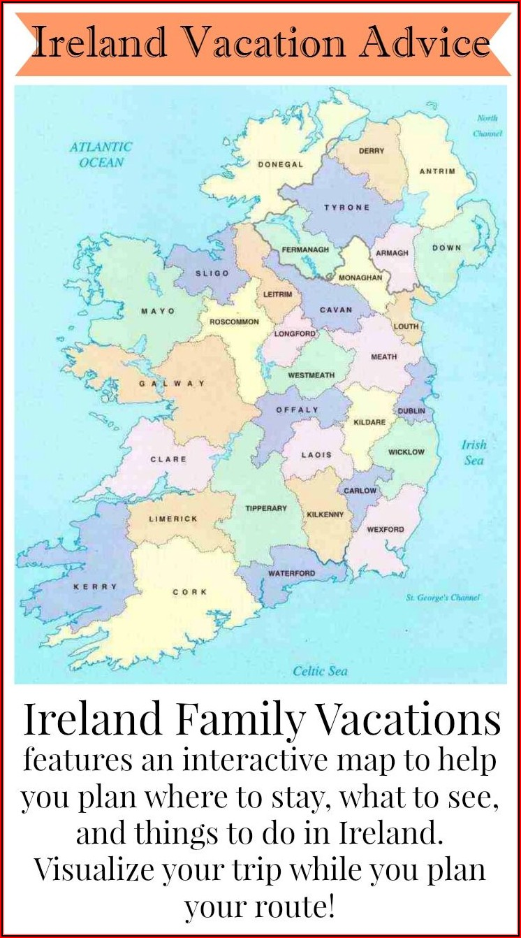 Map Of Ireland For Travel Planning