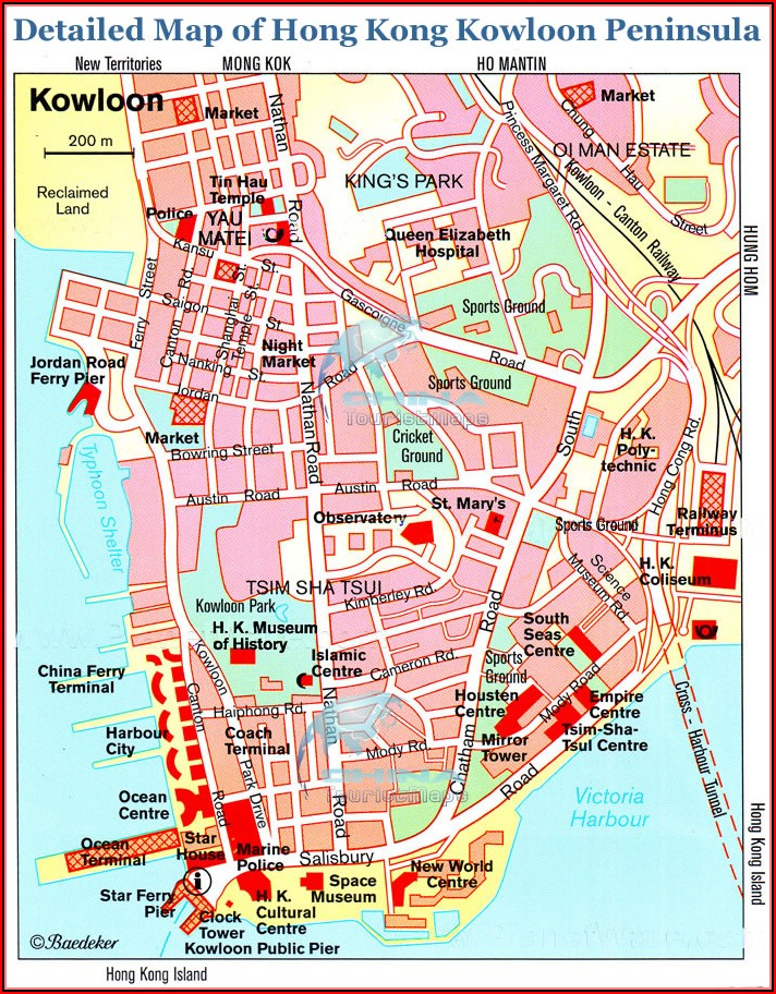 Map Of Kowloon Hotels