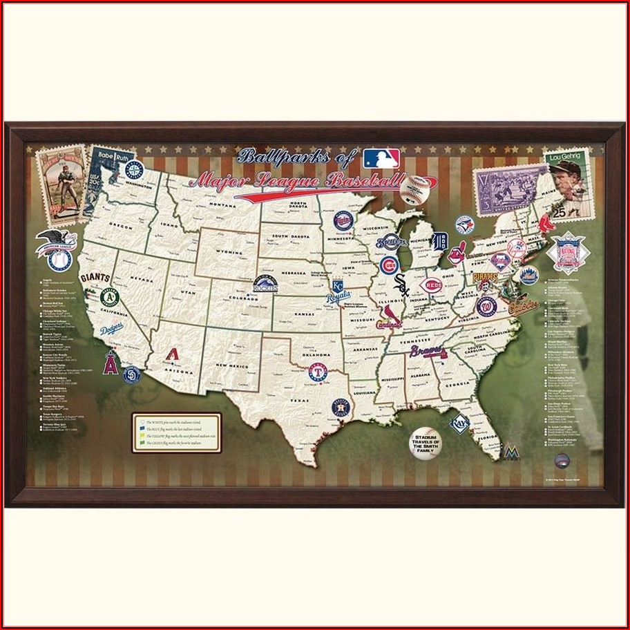 Map Of Major League Ballparks