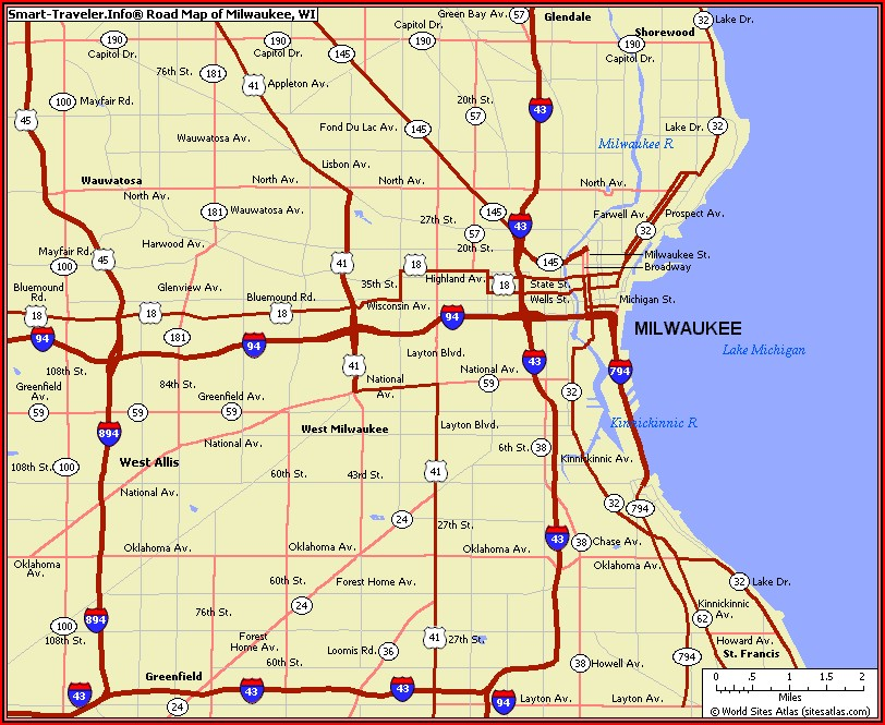 Map Of Milwaukee Area Hotels