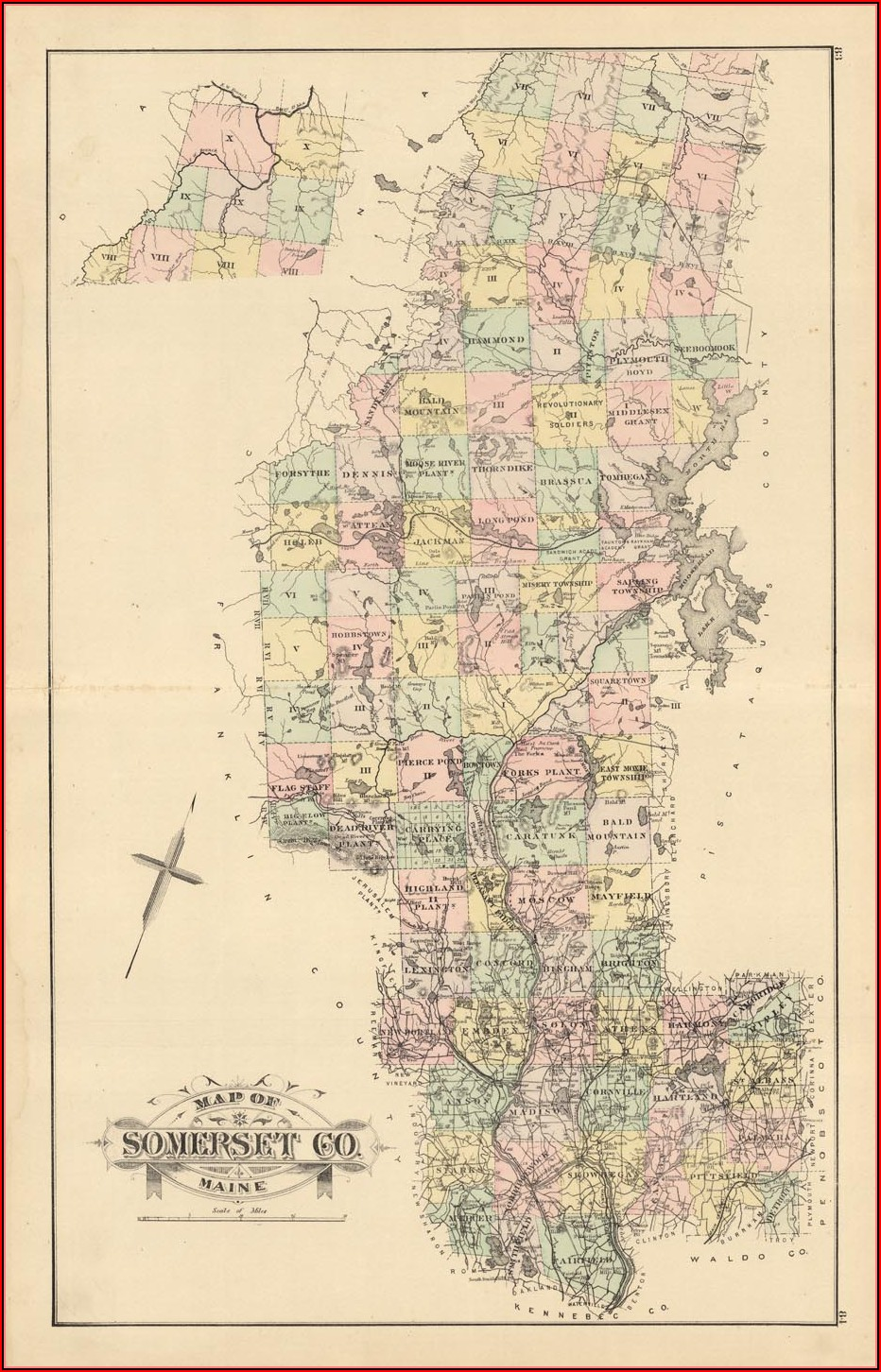 Map Of Moosehead Lake Maine