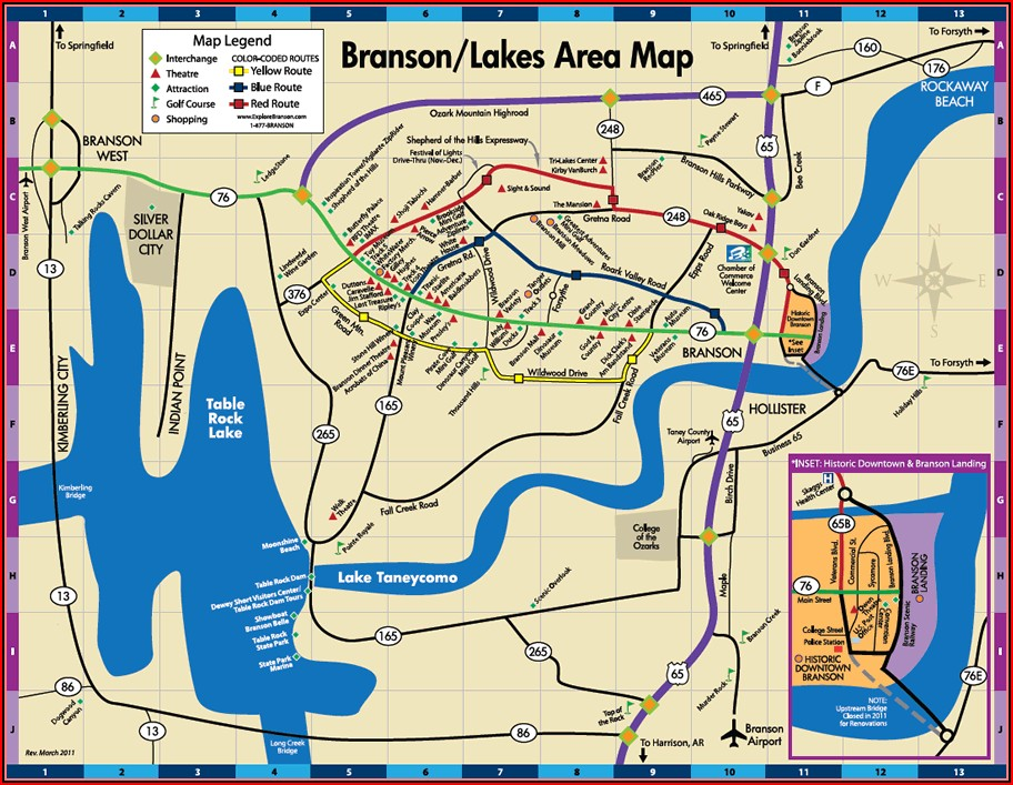 Map Of Motels In Branson Missouri