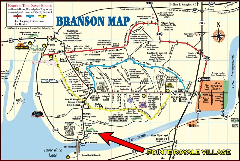 Branson Strip Attractions Map