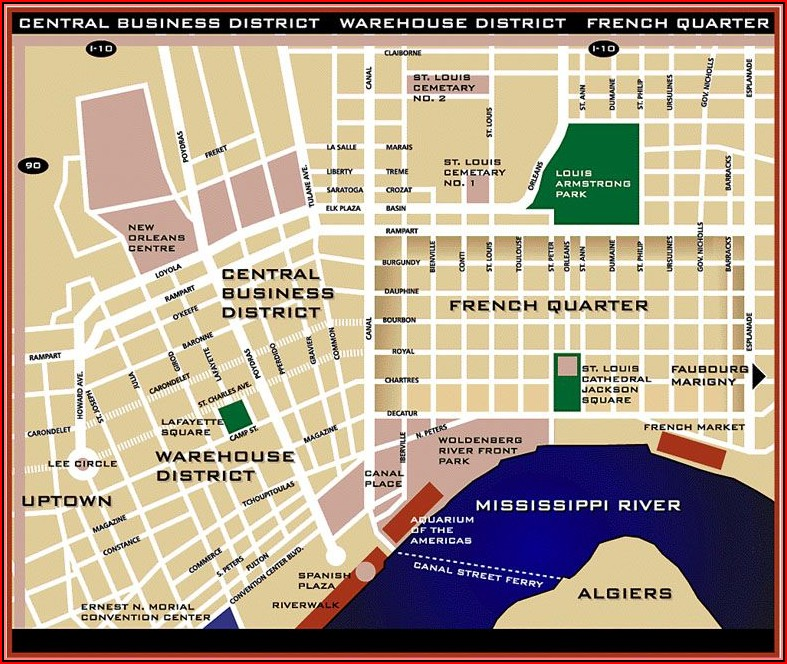 Map Of New Orleans Hotels Near French Quarter