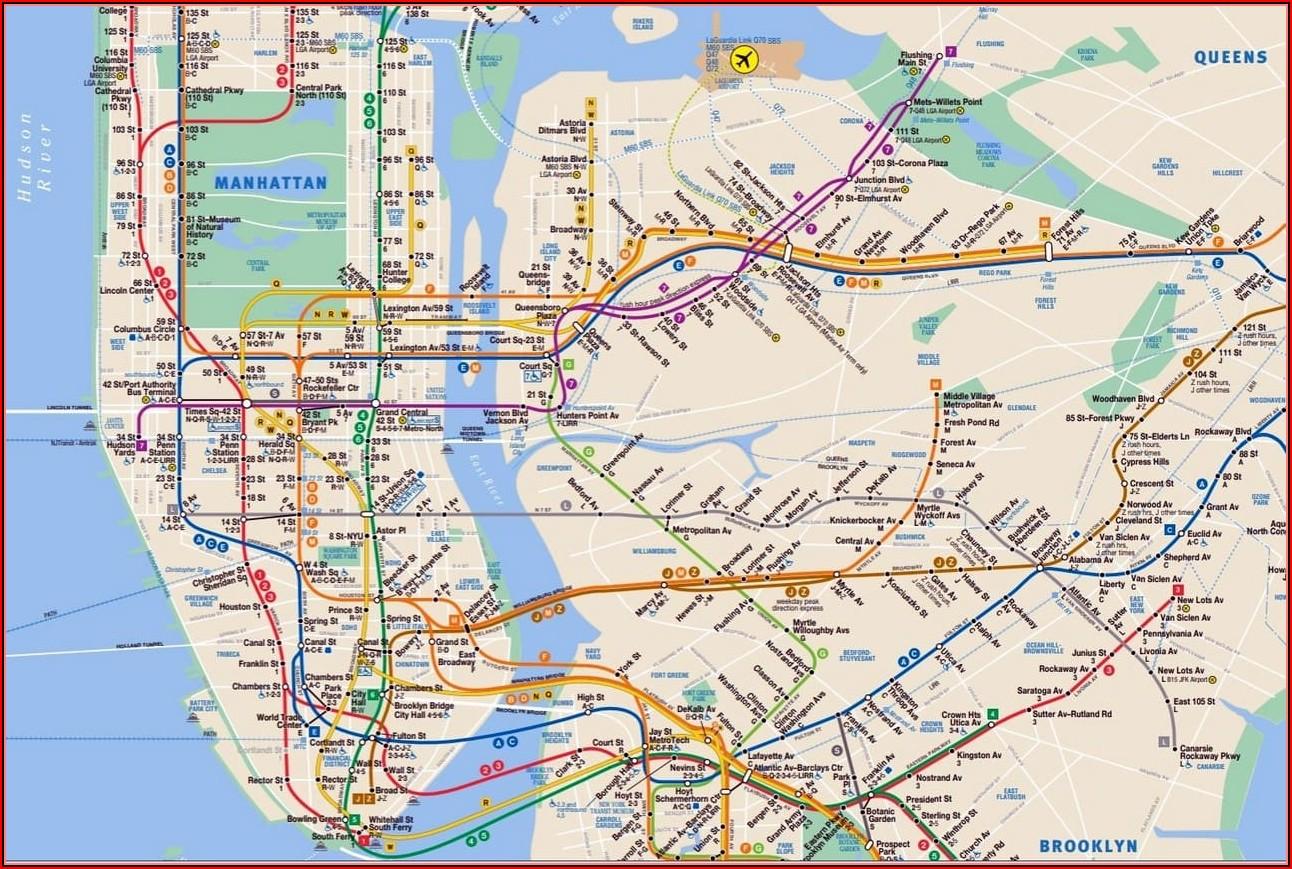 Map Of New York City Manhattan Streets