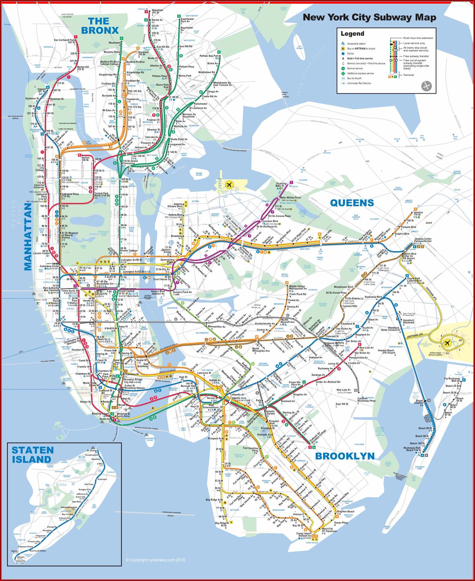 Map Of New York Metro Train