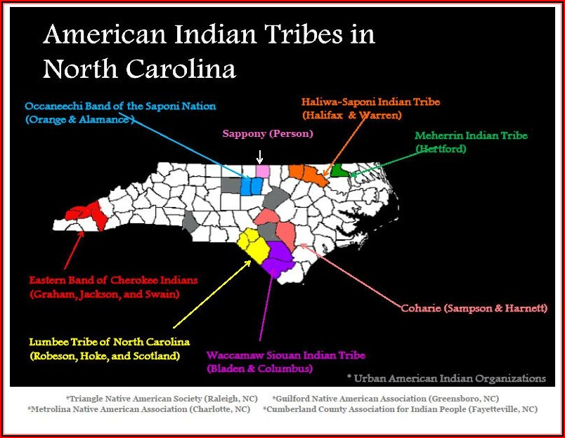 Map Of North Carolina Native American Tribes