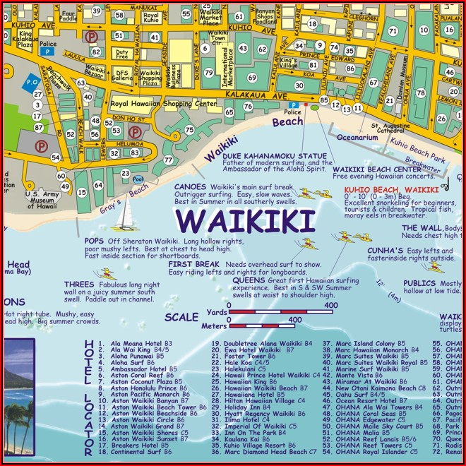 Map Of Oahu Beach Hotels