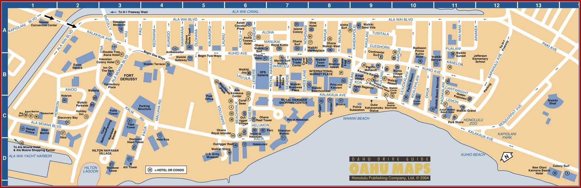 Map Of Oahu Hotels