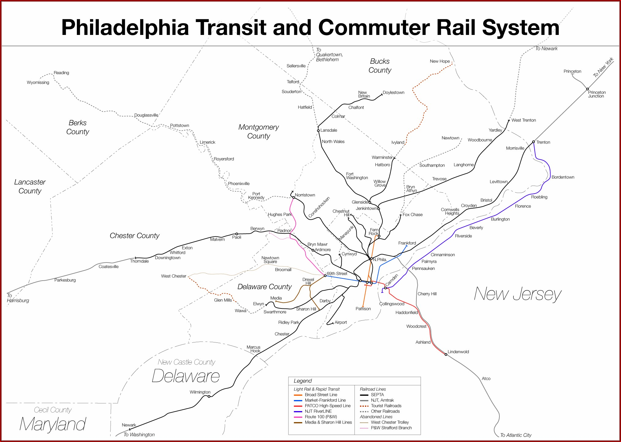 Map Of Philadelphia Train System