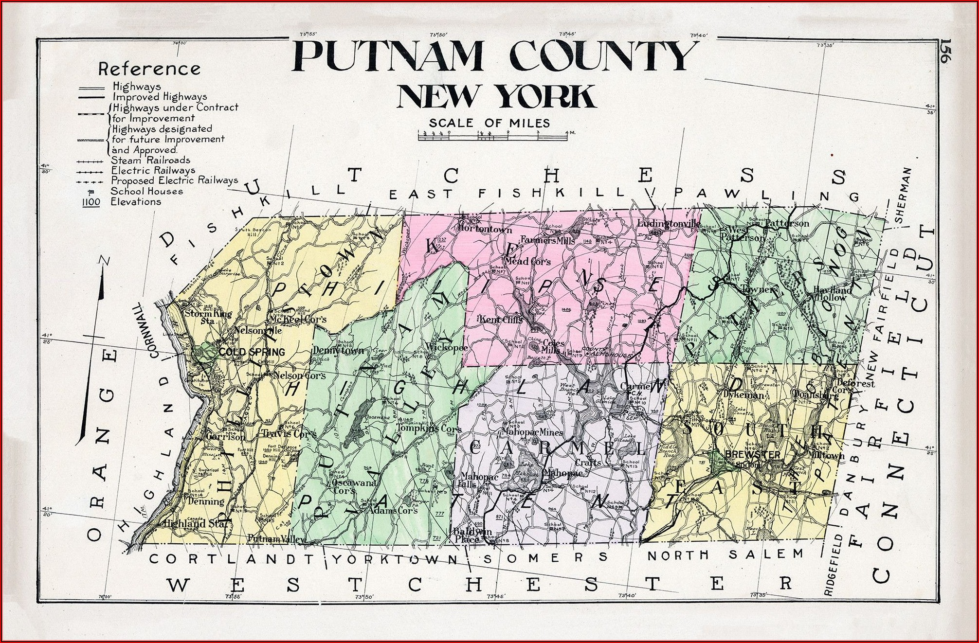 Map Of Putnam County New York