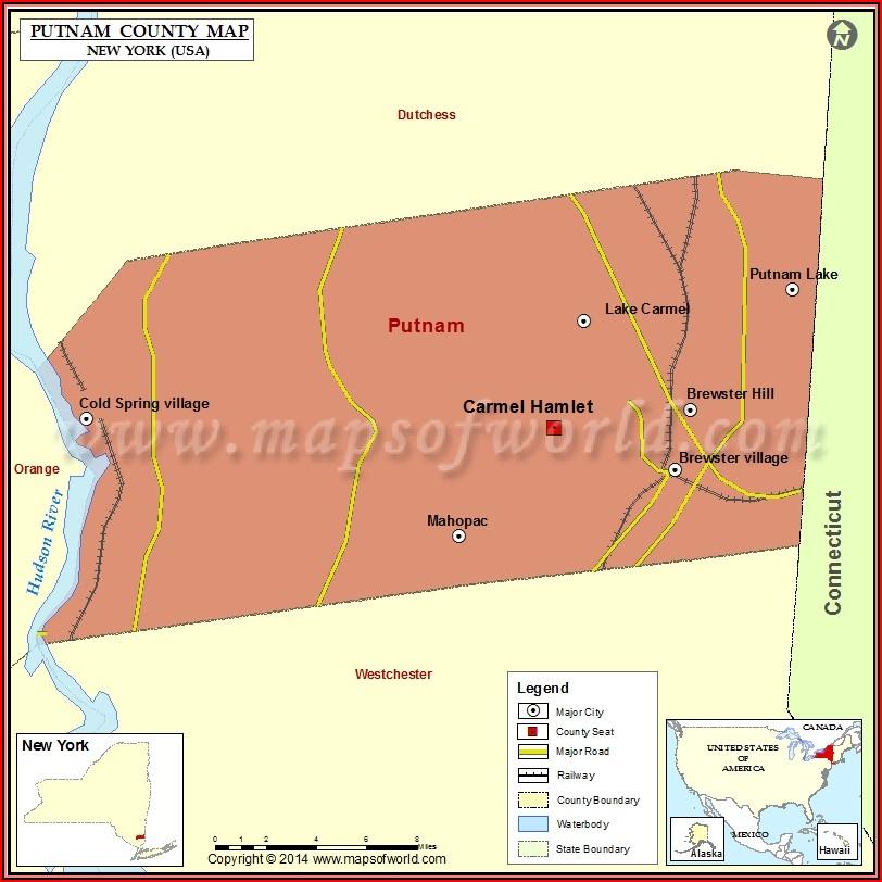 Map Of Putnam County