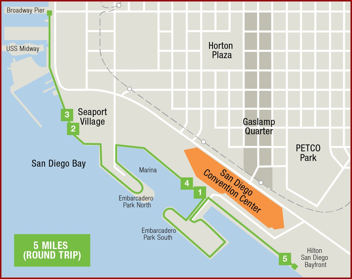 Map Of San Diego Convention Center Hotels