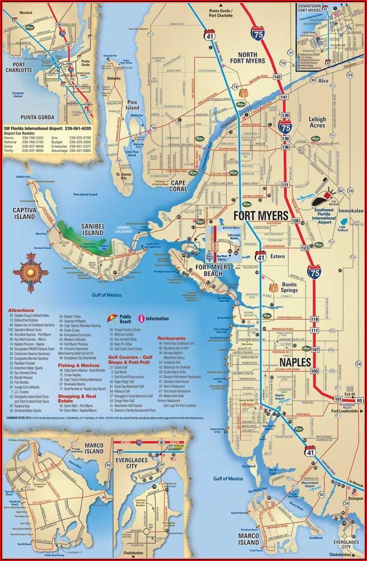 Map Of Sanibel Island Hotels And Restaurants