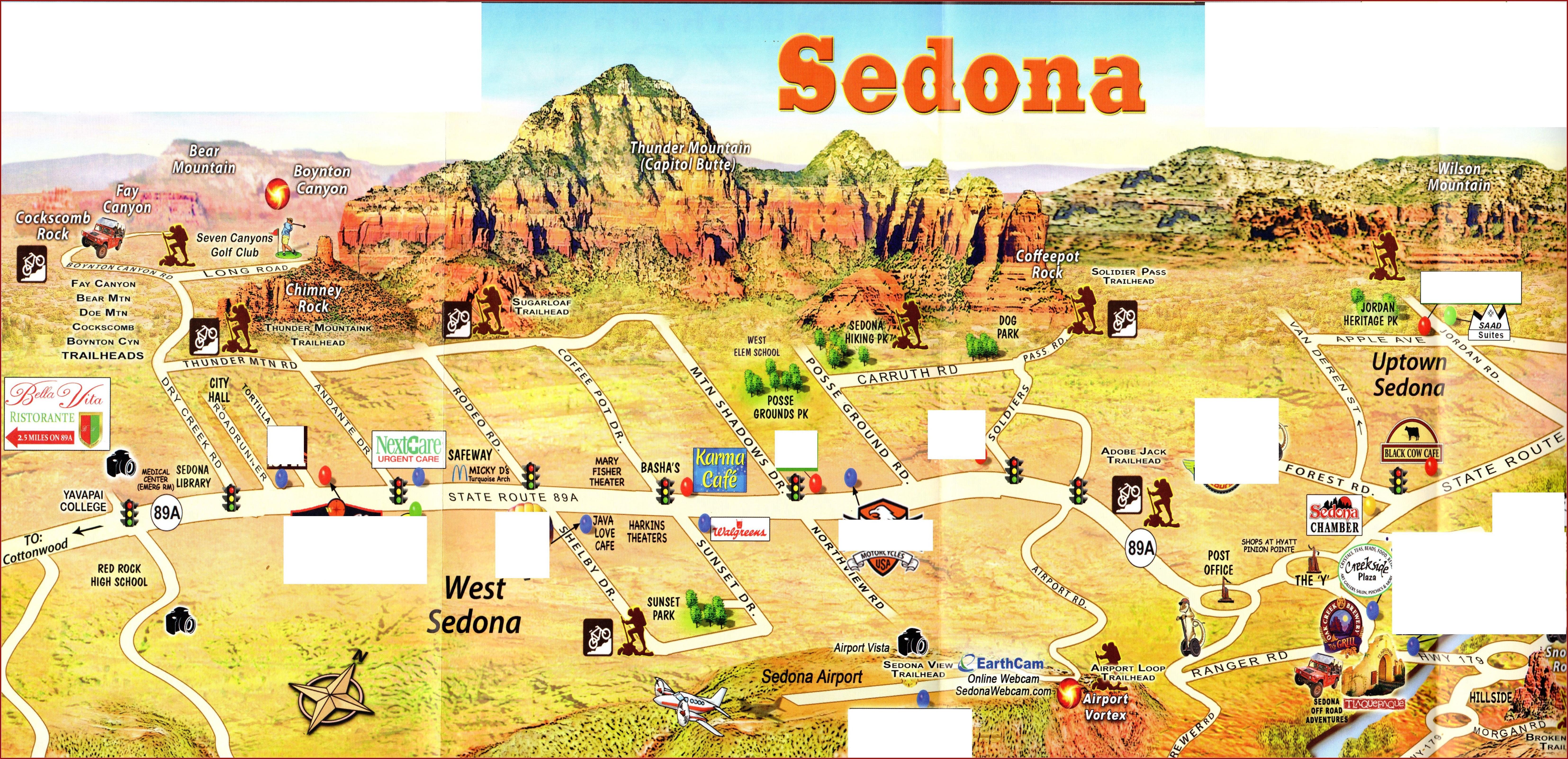 Map Of Sedona Hotels