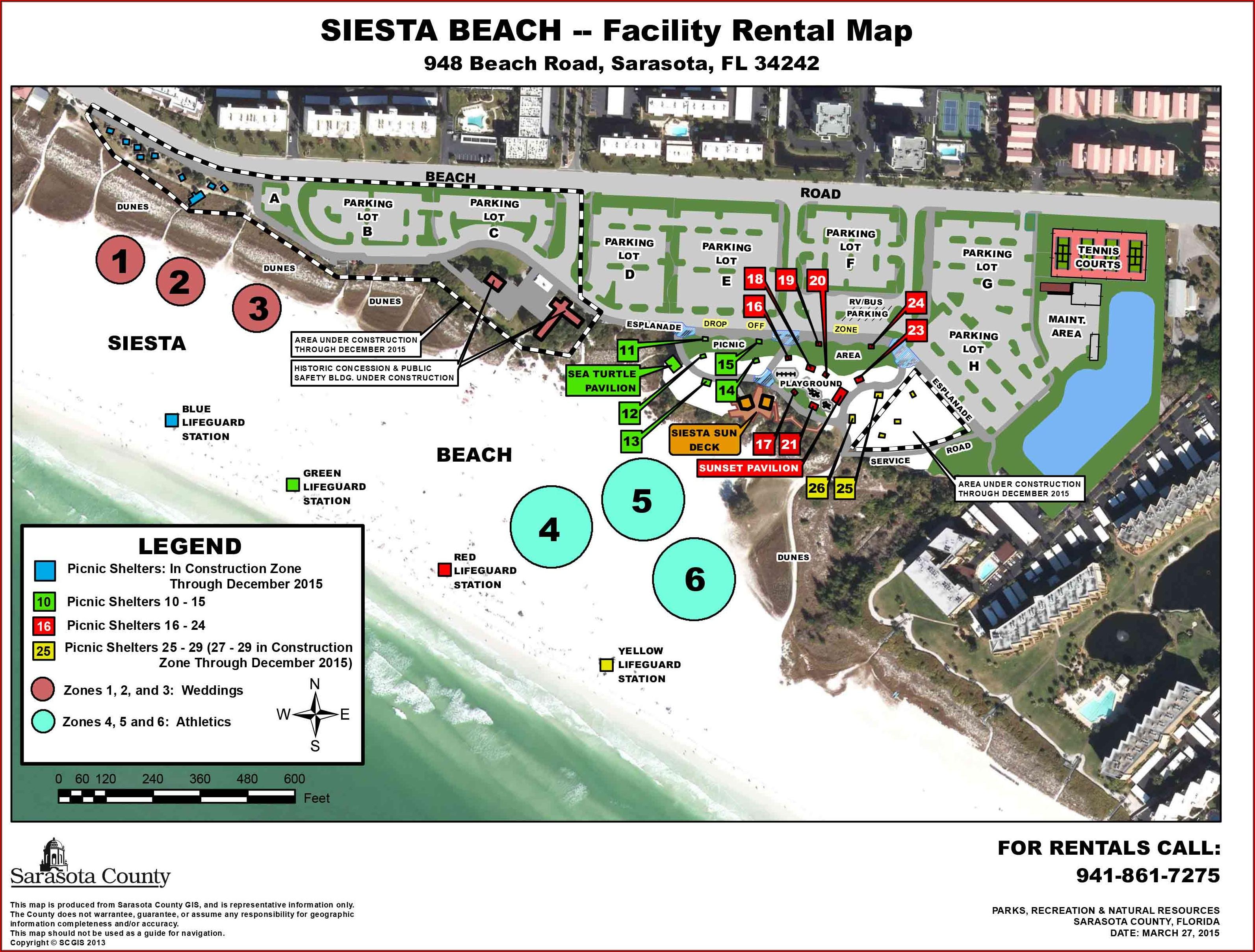 Map Of Siesta Key Beach Hotels