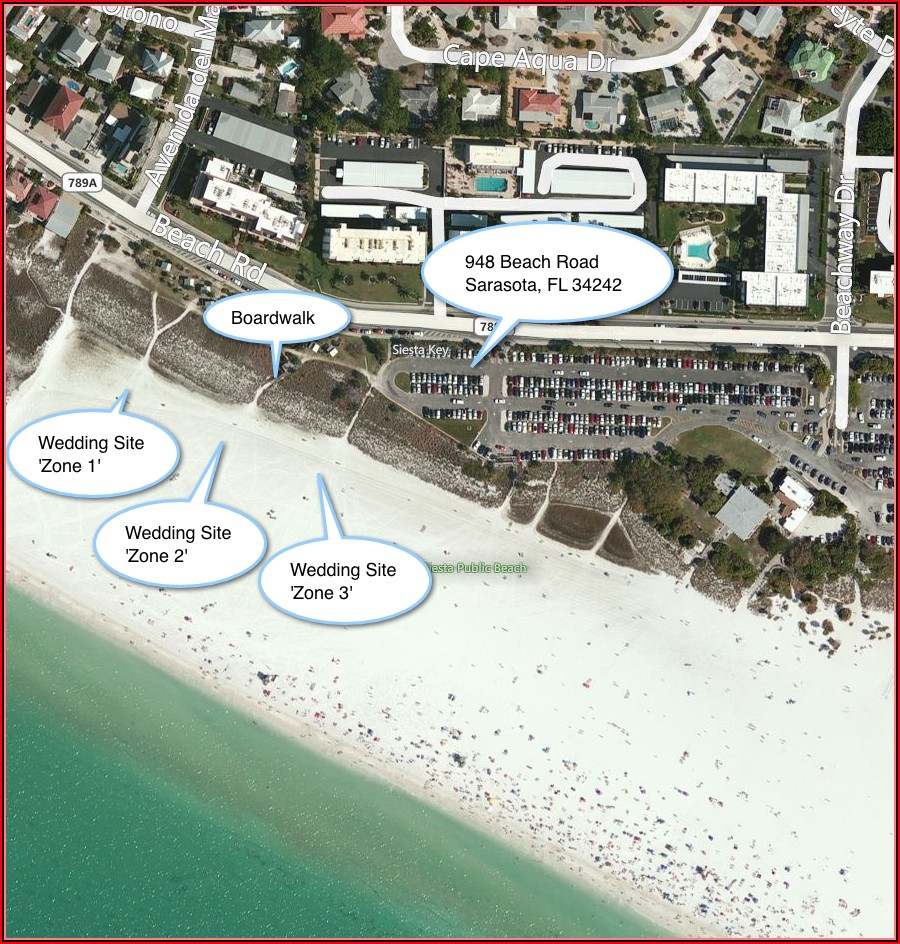 Map Of Siesta Key Hotels