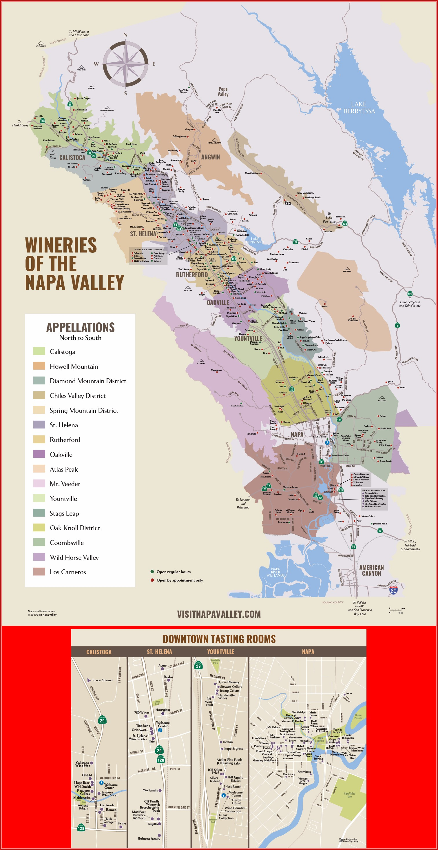 Map Of Sonoma California Wineries