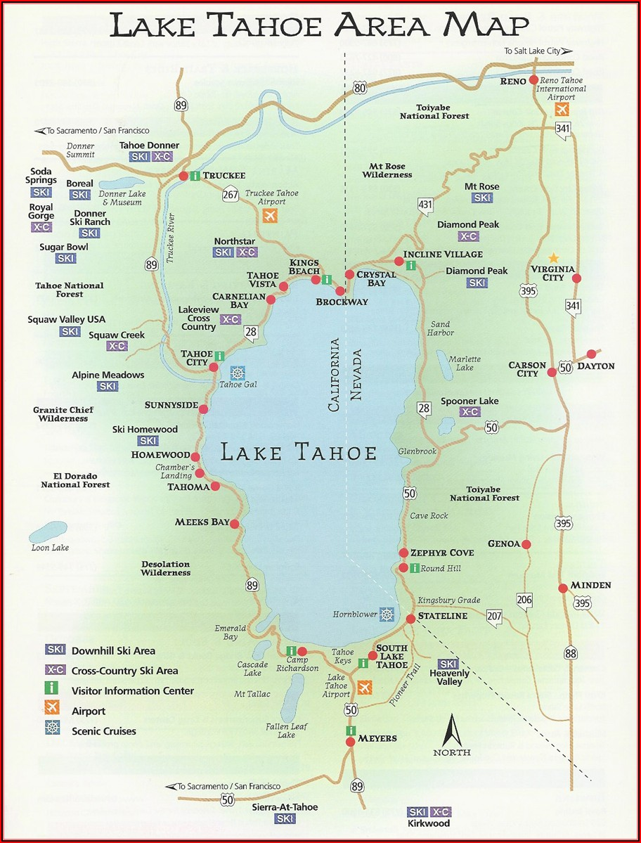 Map Of South Lake Tahoe Hotels