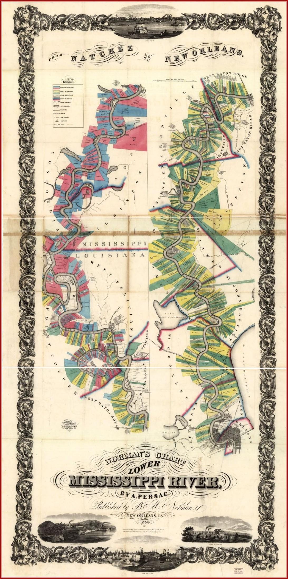 Map Of South Louisiana Plantations