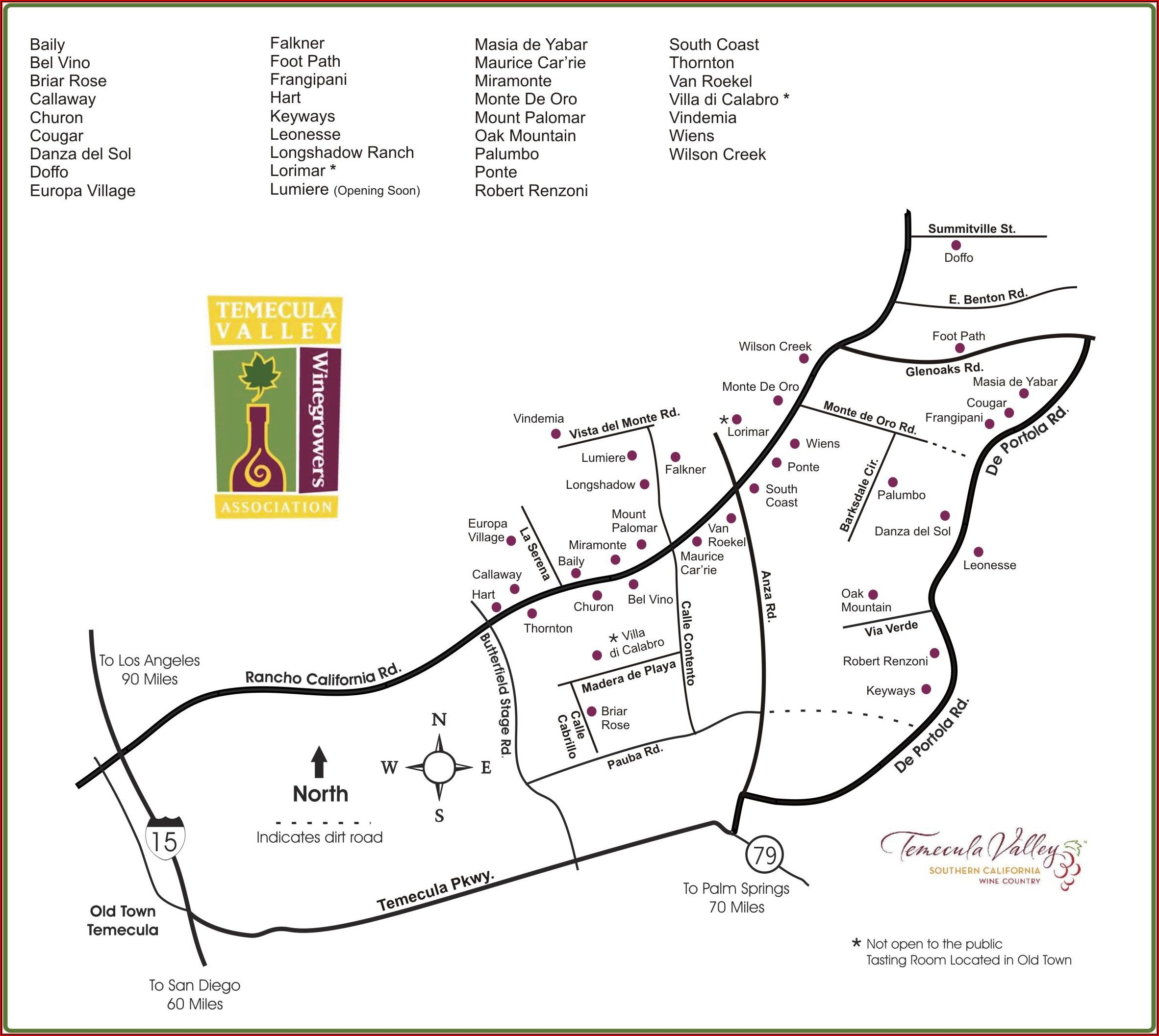 Map Of Southern California Wineries