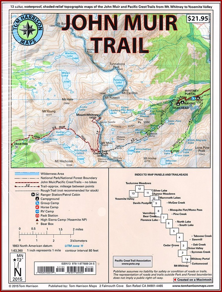 Map Of The John Muir Trail