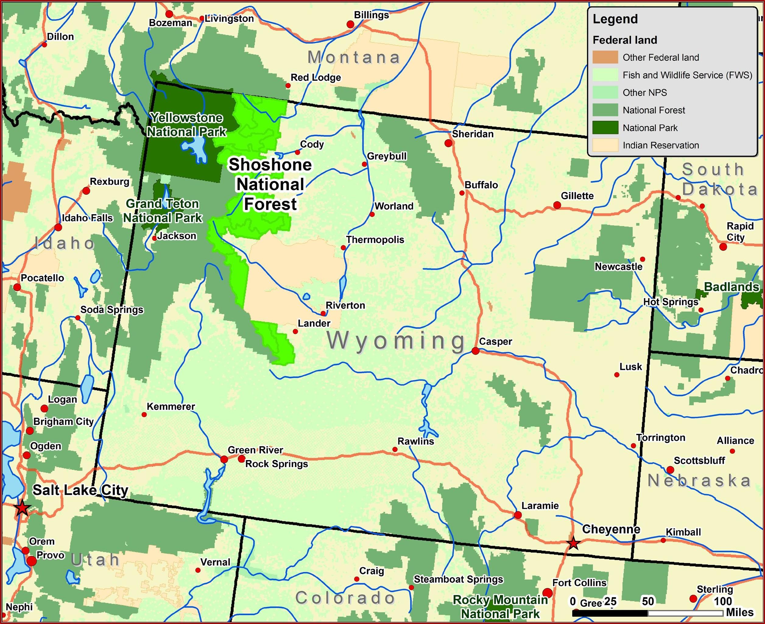 Map Of The Tetons Mountain Range