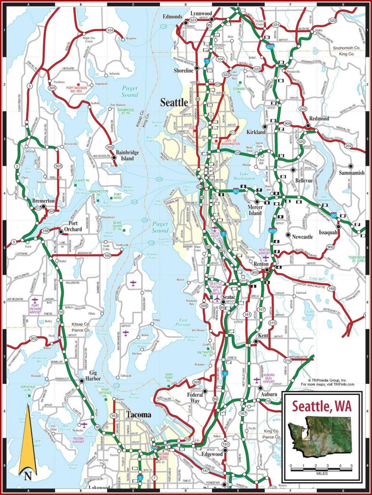 Map Puget Sound Area