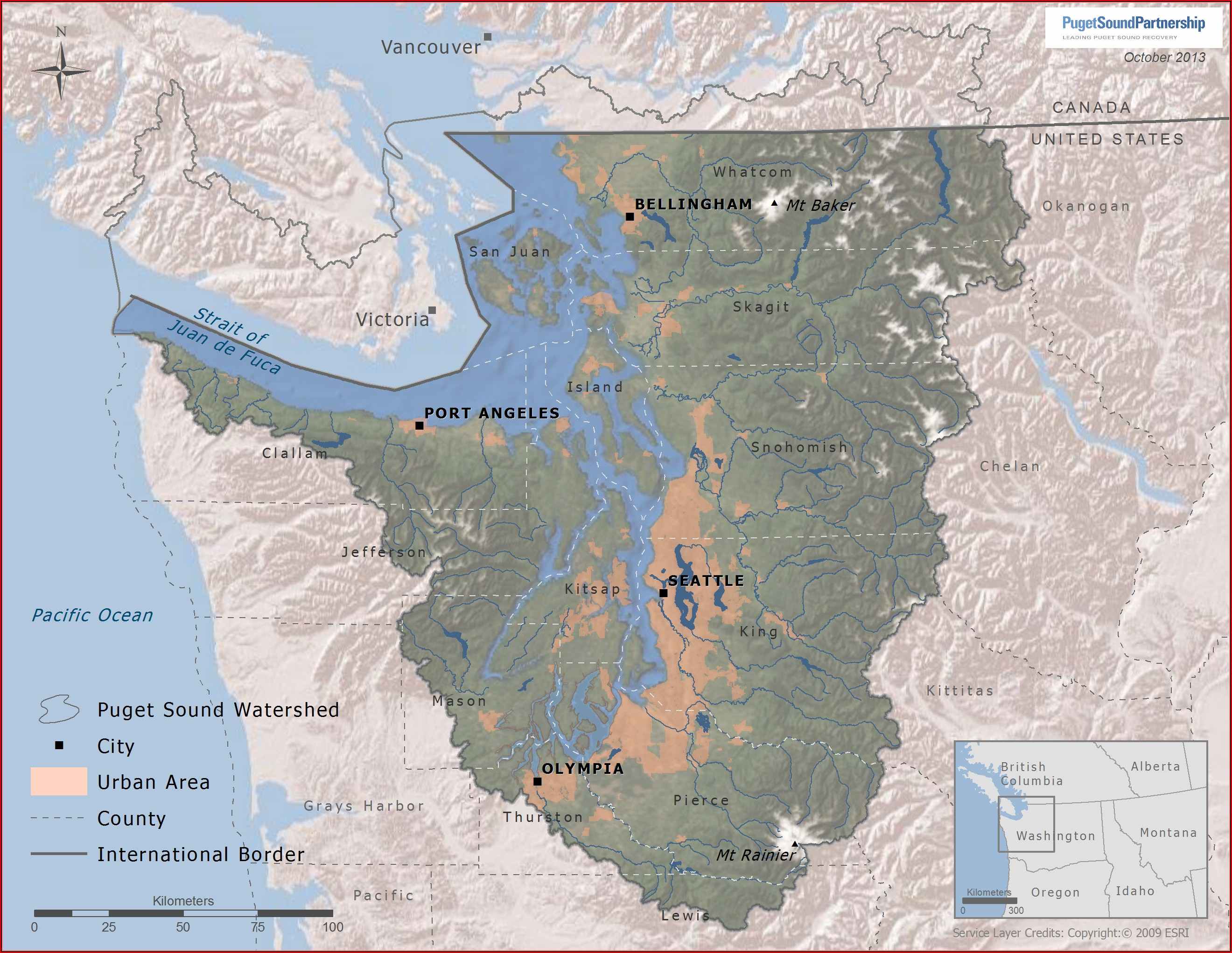 Map Puget Sound Wa