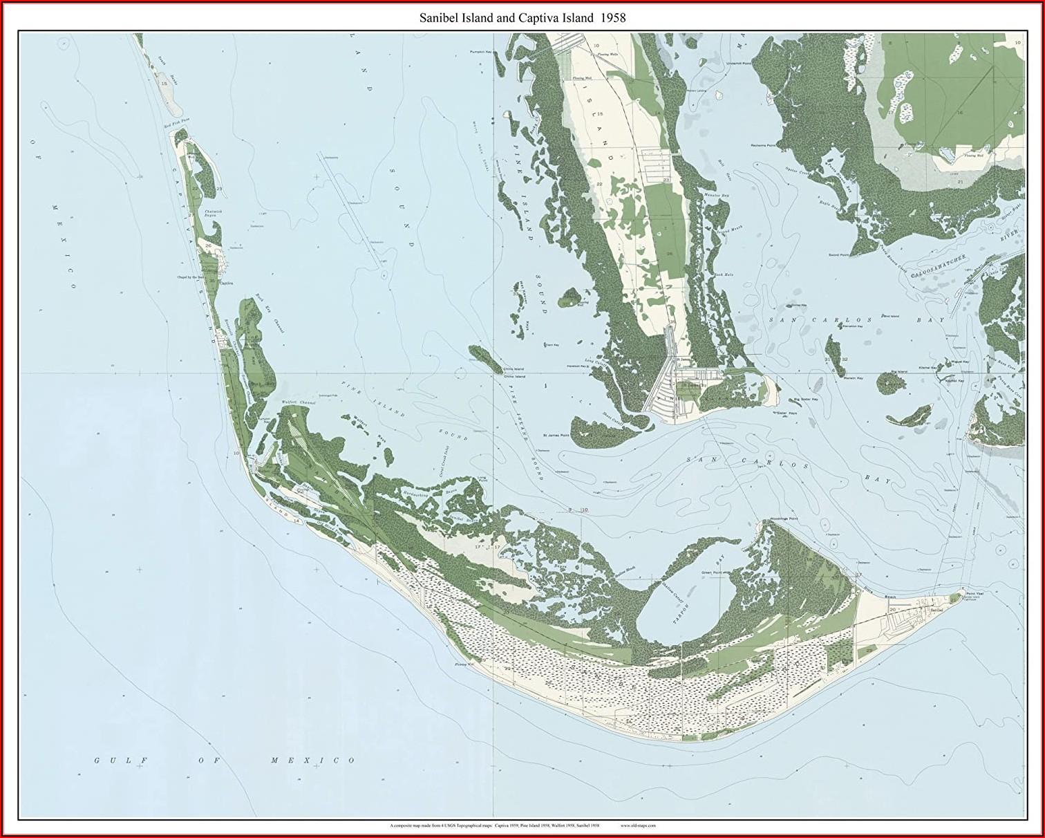 Map Sanibel Captiva Island Florida