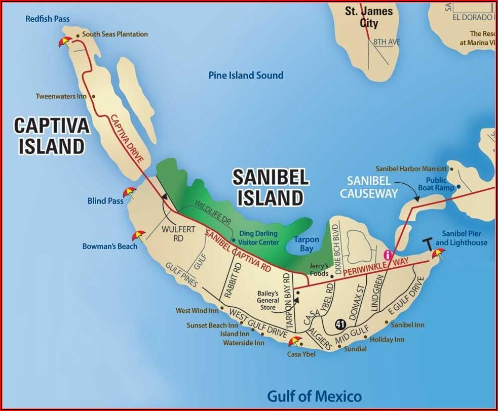 Map Sanibel Island Fl