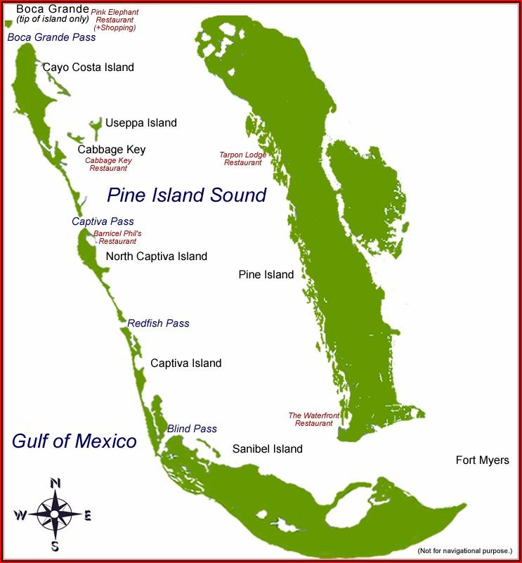 Map Sanibel Island Florida