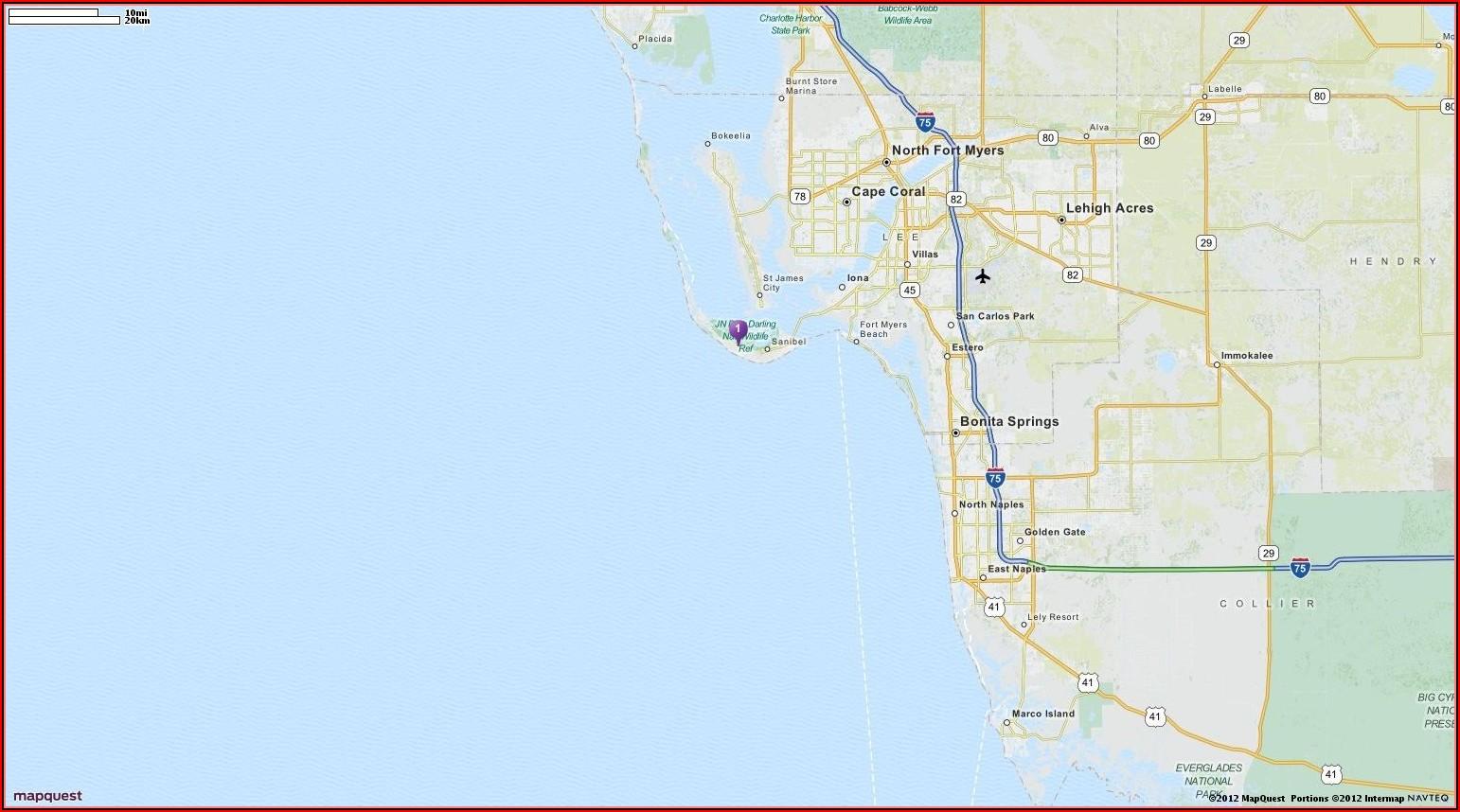 Mapquest Sanibel Island Florida