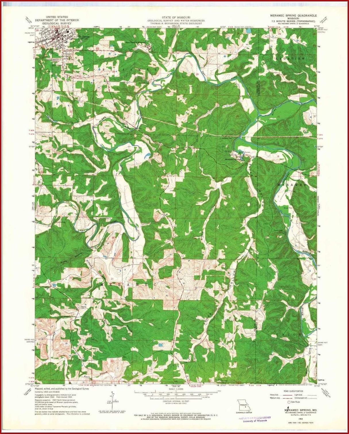 Maramec Springs Map