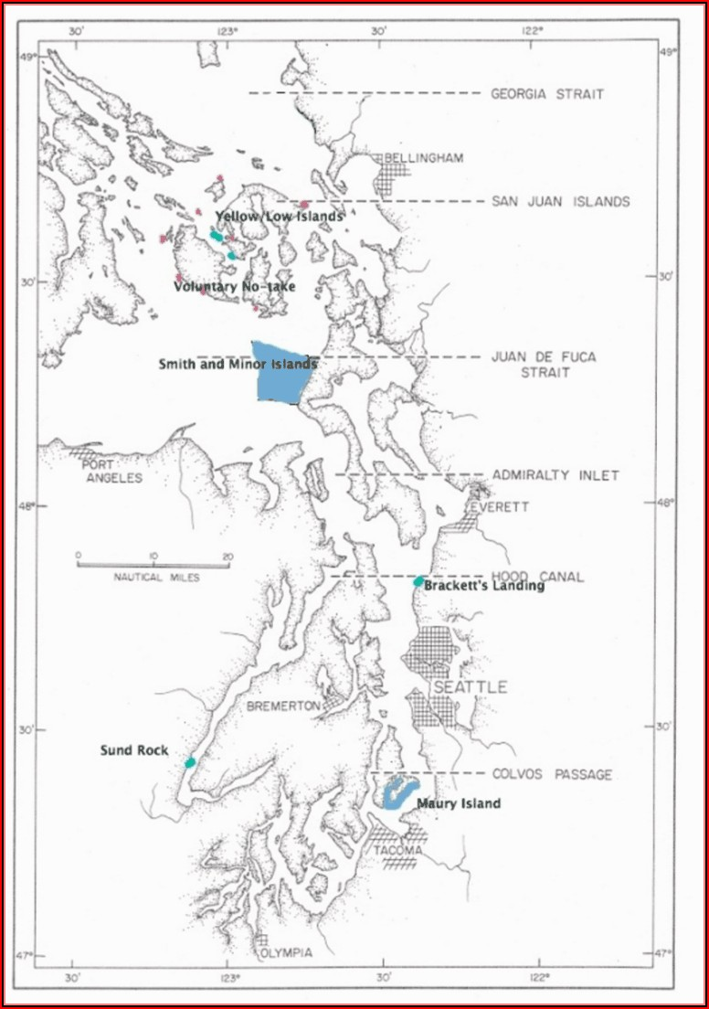 Marine Area Map Puget Sound