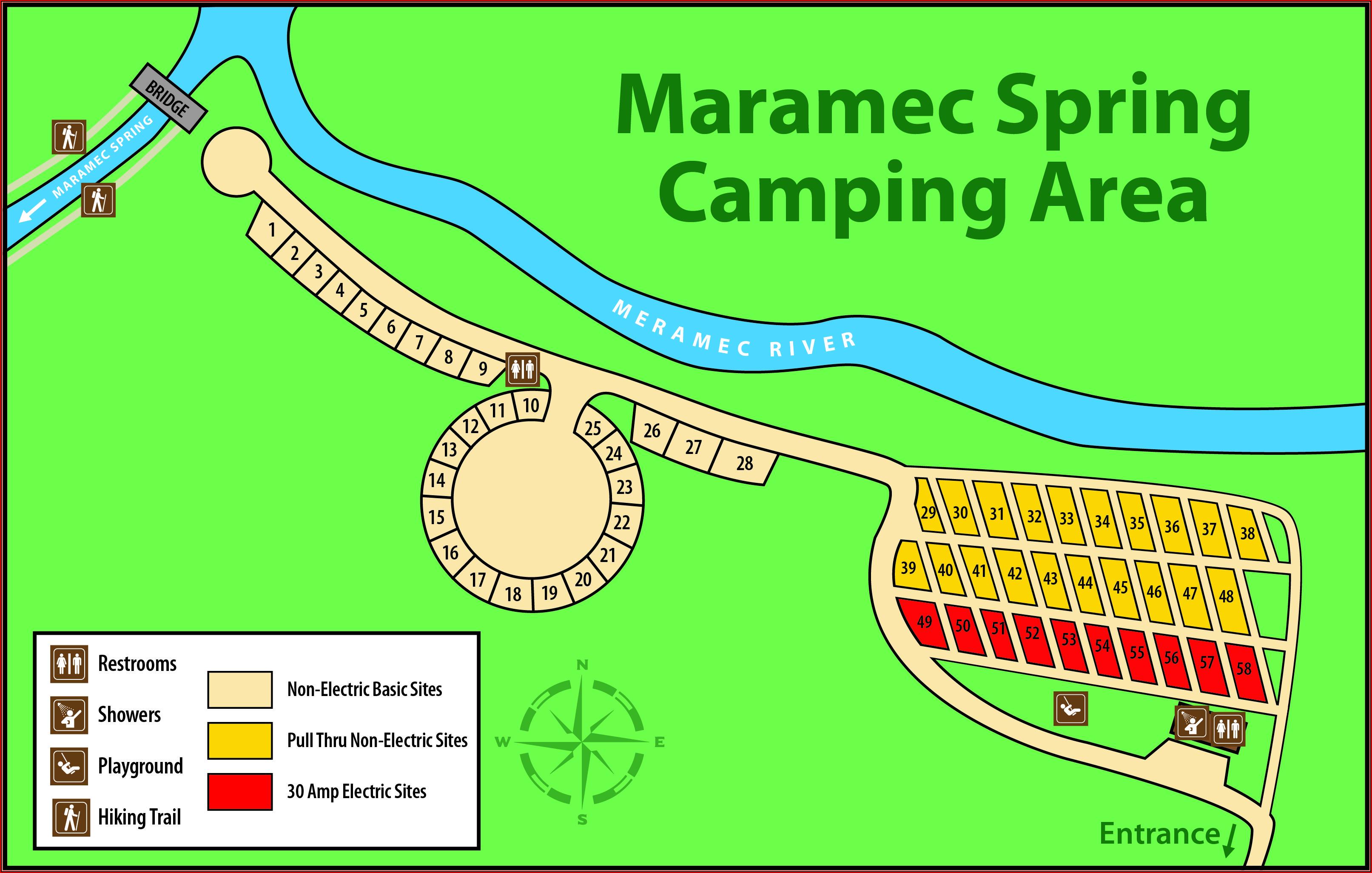 Meramec Springs State Park Map