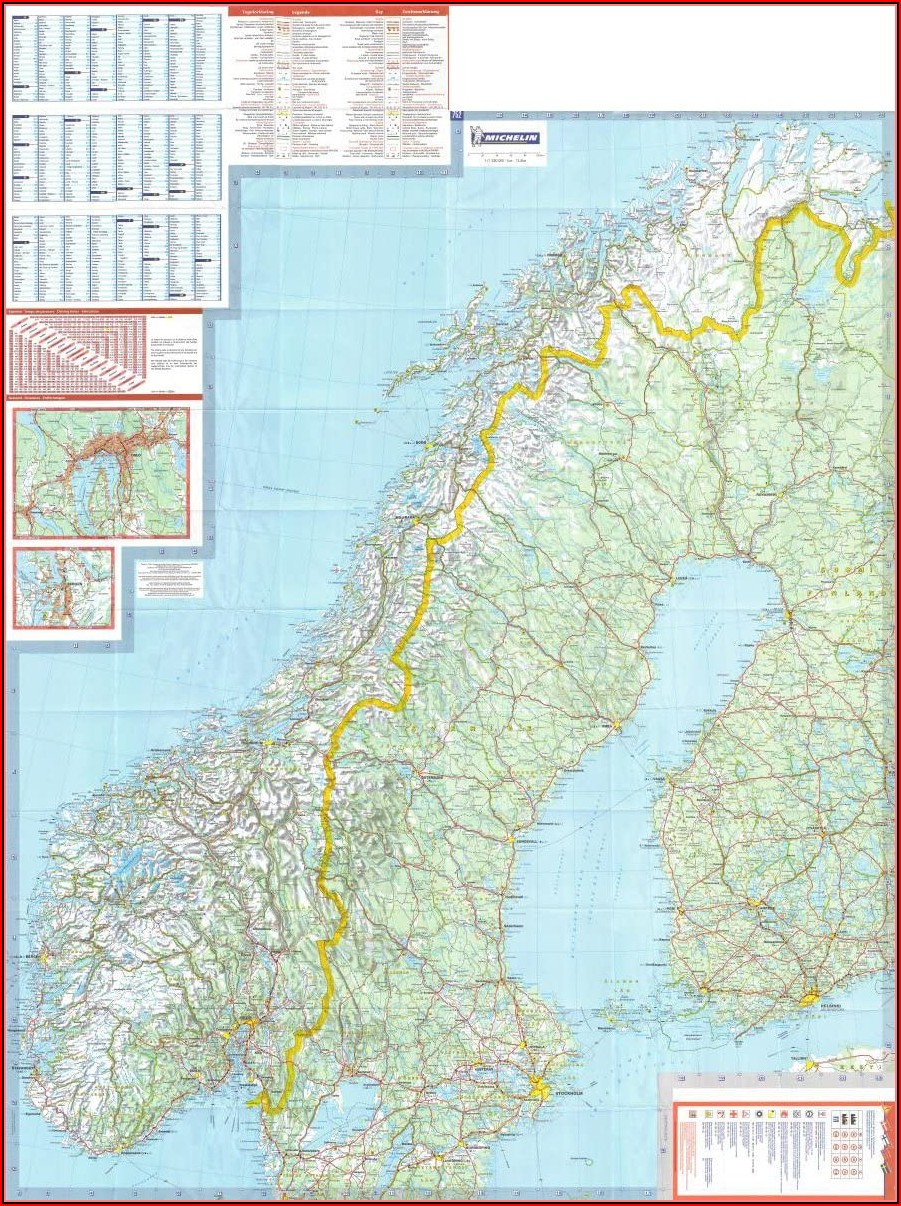 Michelin Road Maps Norway