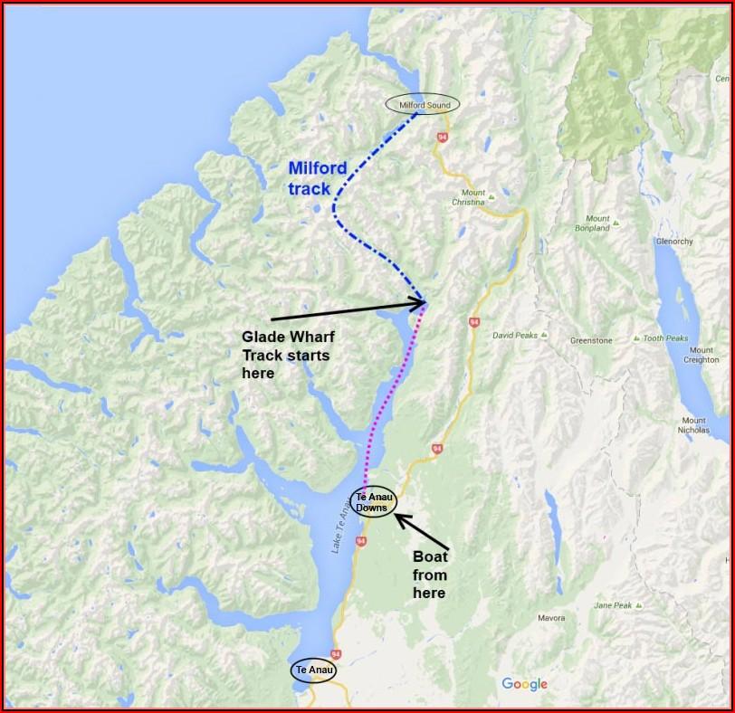 Milford Sound Walking Track Map