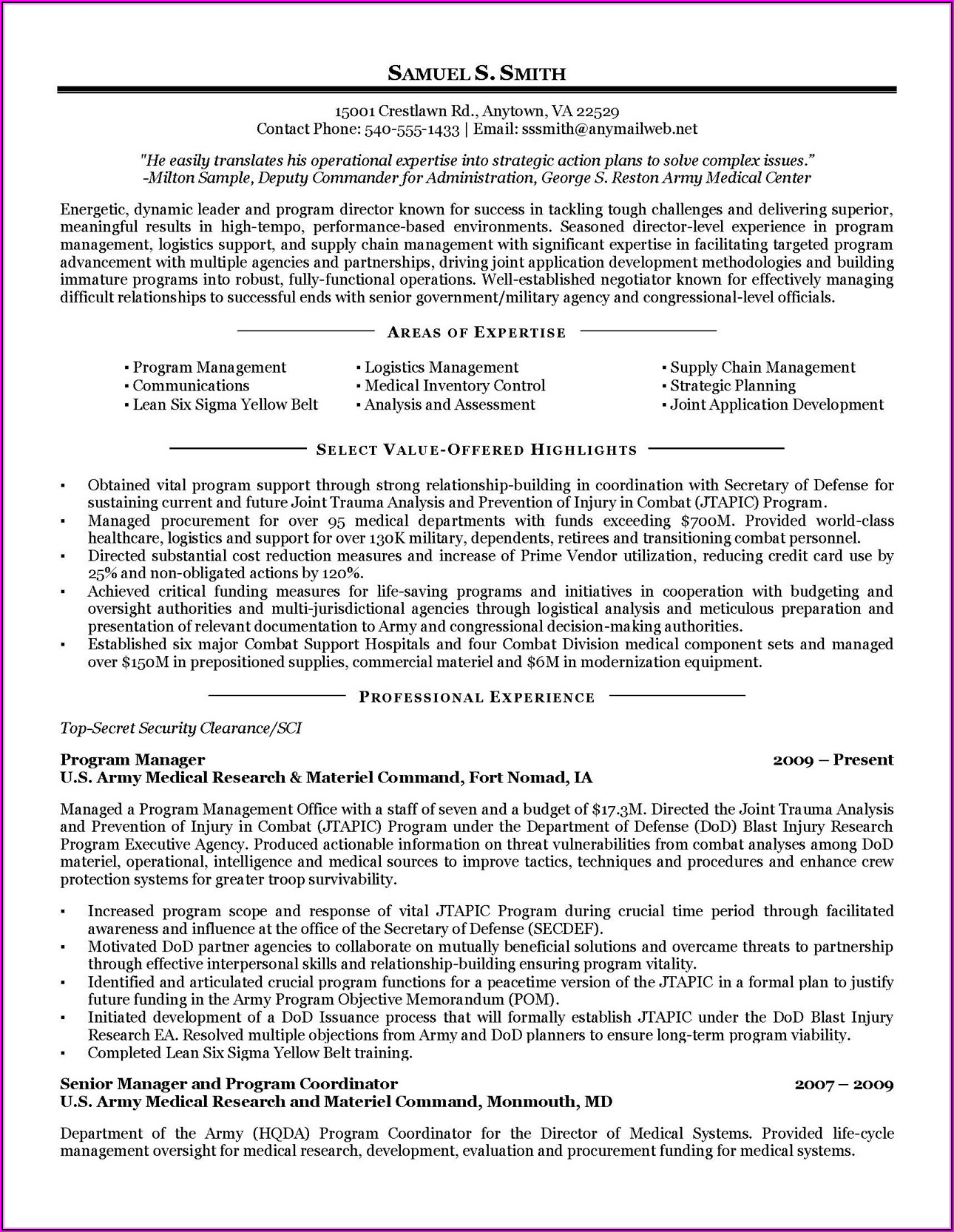 Military Spouse Resume Help
