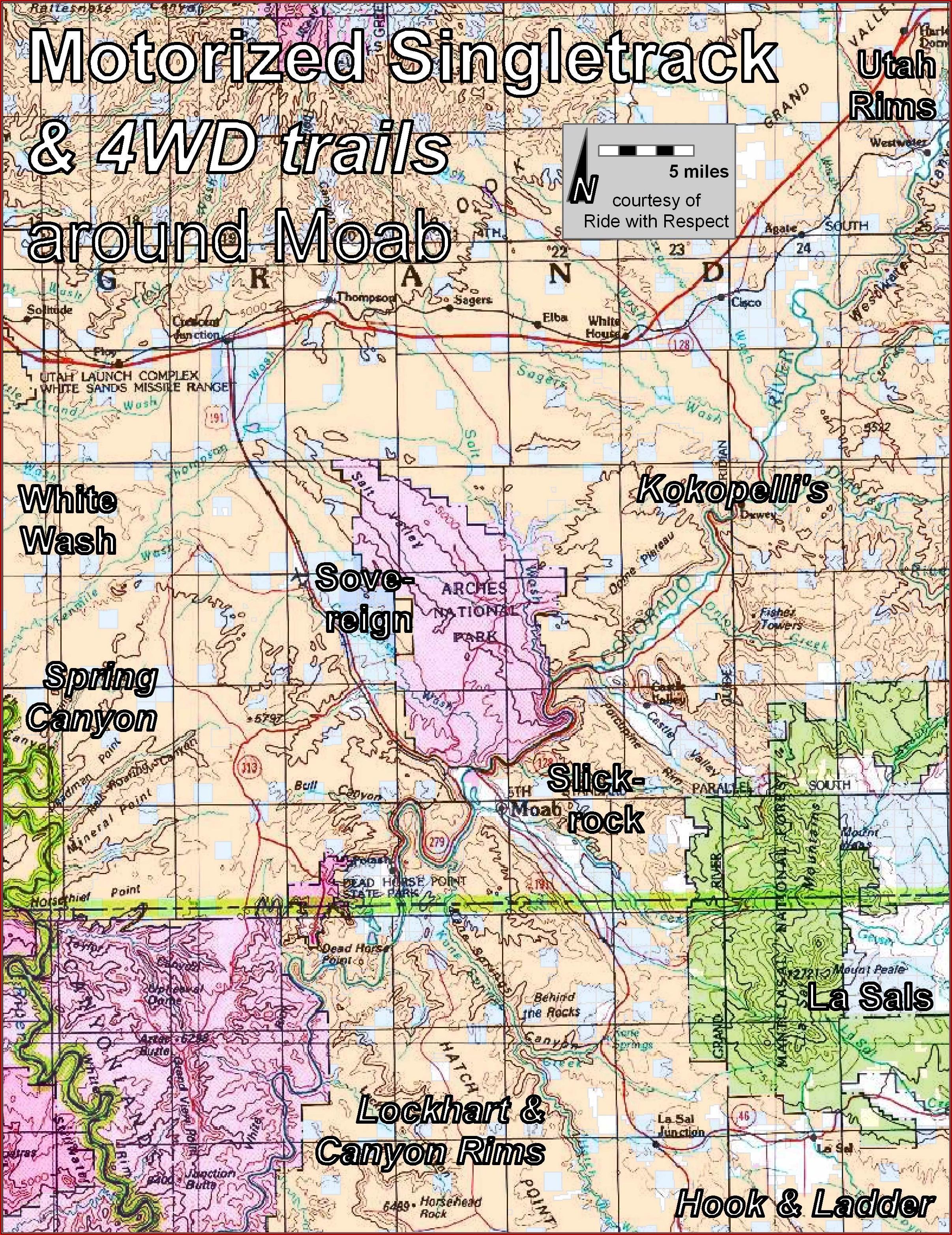 Moab Utah Off Road Maps